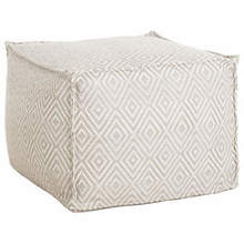 Pouf-Diamond Platinum White