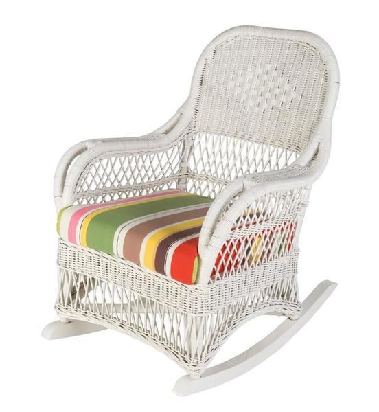 Cottage Round Wicker Rocker
