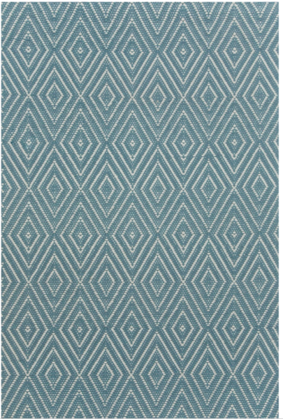 Diamond Slate/Light Blue Indoor/Outdoor Rug
