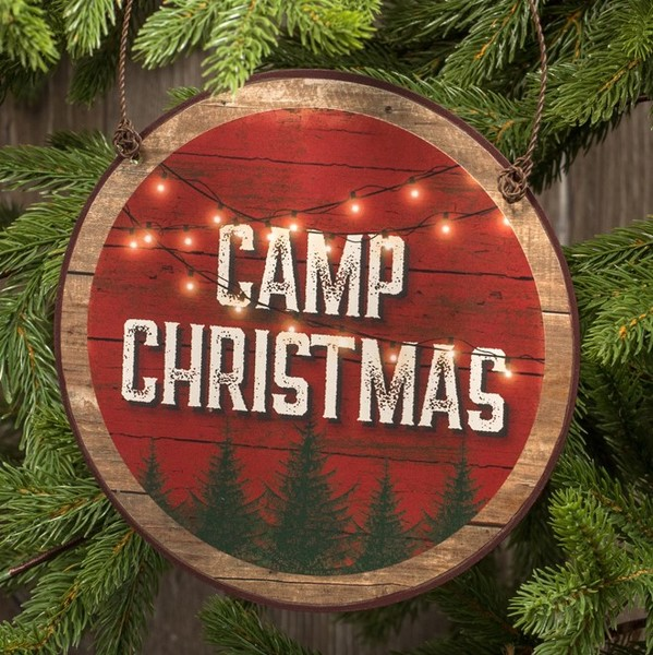 Camp Christmas Ornament