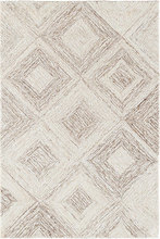 Escher Natural Hooked Viscose/Wool Rug