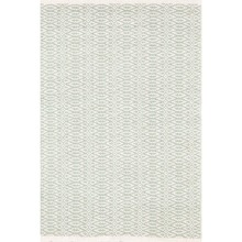 Fair Isle Ocean/Ivory Woven Cotton Rug