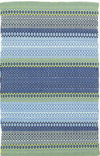 Fiesta Stripe French Blue/Green Indoor/Outdoor