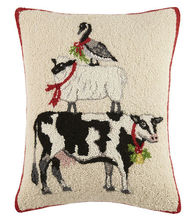 Goose Sheep Cow Hooked Pillow