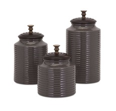 More about the 'Grey Canisters with Lids' product