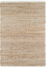 Gridwork Ivory Woven Jute Rug
