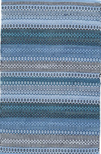 Gypsy Stripe Denim Navy Woven Cotton Rug