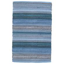 Gypsy Stripe Denim/Navy Woven Cotton Rug by Dash & Albert