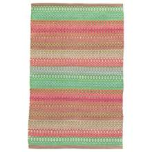 Gypsy Stripe Pink/Green Woven Cotton Rug by Dash & Albert