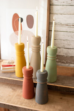 More about the 'Set Of Five Colorful Clay Taper Holders' product