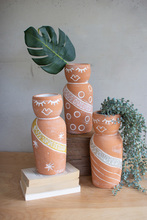 More about the 'Set Of Three Clay Pageant Girl Vases' product