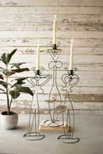 More about the 'Set Of Three Wire Abstract Ladies Taper Candle Towers' product