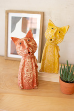 More about the 'Set Of Two Clay Singing Cats' product