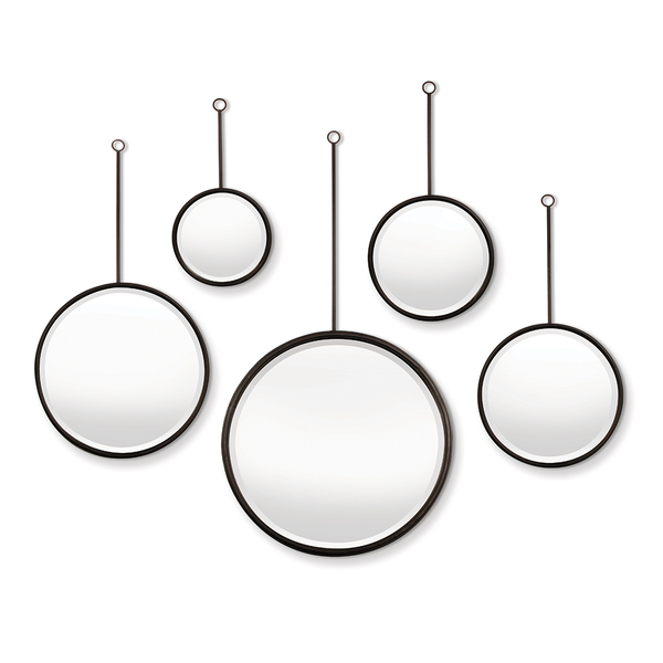 Maison Noir Pendulum Mirrors, Set Of 5
