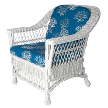 Harbor Front Armchair - Isabella Cobalt fabric