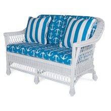 Harbor Front Loveseat - Salor Cobalt fabric