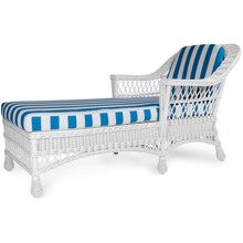 Harbor Front Chaise - Stripe Cobalt