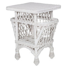 More about the 'Harbor Front Wicker Accent Table w/Pockets' product