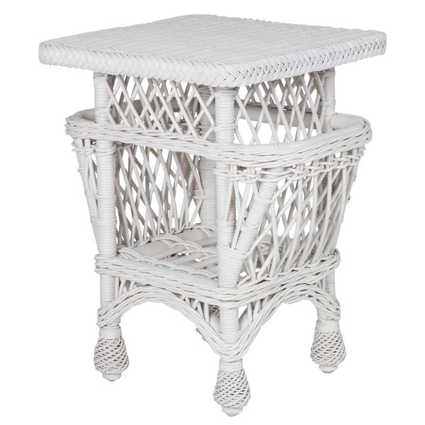 Harbor Front Wicker Accent Table w/Pockets