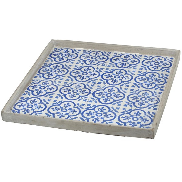 Winston Blue Sq. Decorative tray