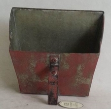 Square Tin Wall Scoop