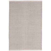 Herringbone Dove Grey Woven Cotton Rug by Dash & Albert