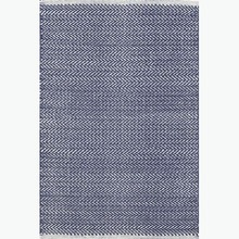 Herringbone Indigo Woven Cotton Rug by Dash & Albert