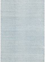 Herringbone Swedish Blue Woven Cotton Rug