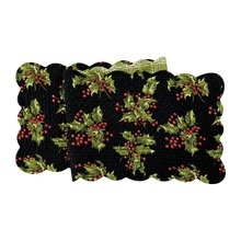 Holly Black Table Runner