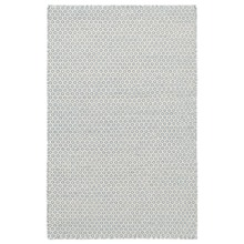 Honeycomb French Blue/IvoryWoven Wool Rug