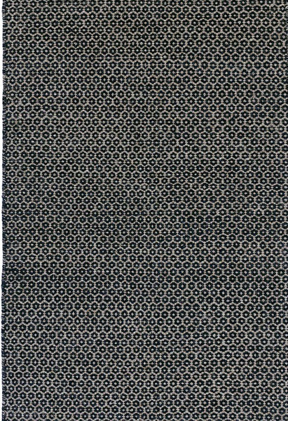 Honeycomb Indigo/Grey Woven Wool Rug