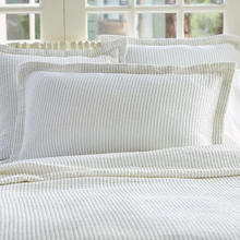 More about the 'Taylor Linens Hudson Indigo Stripe Matelasse King Sham' product