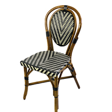 Parisian Chair Double V Black/Ivory