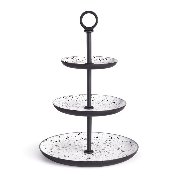 Speckle 3-Tier Round Tray