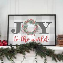 JOY sign on mantle