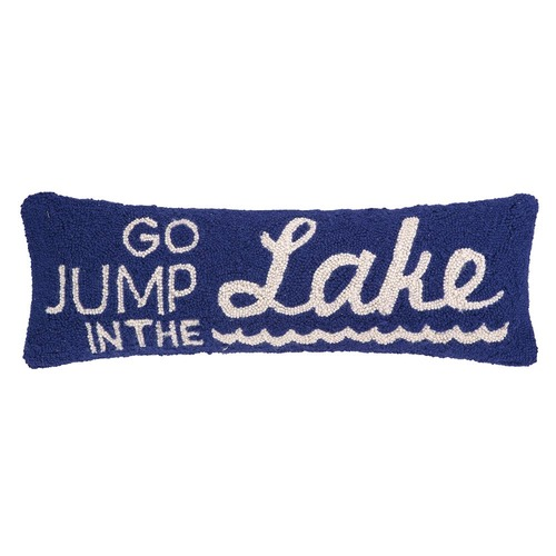 Go Jump In The Lake Pillow By Peking