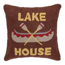 More about the 'Lake House Canoe Hooked Pillow by Peking' product