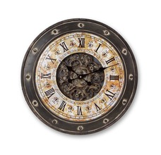 More about the 'Exposed Gear Wall Mount Clock w/Rivet Detail  Antique/Grey' product