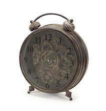 More about the 'Tabletop Clock w/Working Gears  Antique/Grey' product