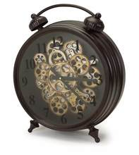 More about the 'Tabletop Clock w/Working Gears  Brown/Rust' product
