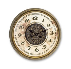 More about the 'Exposed Gear Wall Mount Clock Beige/Green/Gold' product