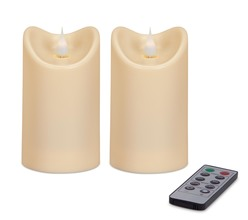 "More about the 'Simplux Plastic Outdoor Candle w/Moving Flame (Set of 2 ) Ivory 3""W x 5""H' product"