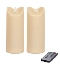 "More about the 'Simplux Plastic Outdoor Candle w/Moving Flame (Set of 2 ) Ivory 2.75""W x 7""H' product"