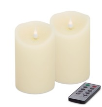 More about the 'Simplux Designer Melted Candle (Set of 2 )  Ivory' product
