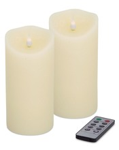More about the 'Simplux Designer Melted Candle (Set of 2)  Ivory' product