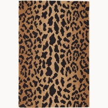 Leopard Hooked Wool Rug by Dash and Albert