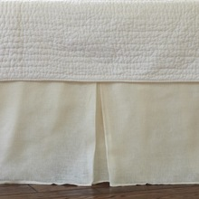 More about the 'Taylor Linens Linen Voile Cream Pleated Bedskirt' product
