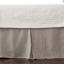 Linen Voile Natural Pleated Bed Skirt