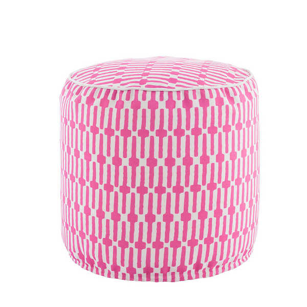 Pouf-Links Fuchsia