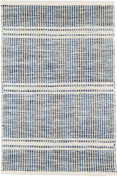 Malta Blue Woven Wool/Cotton Rug